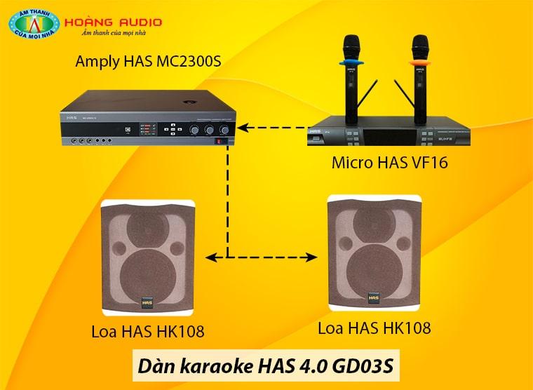 Bộ dàn karaoke hiện đại thế hệ 4.0 HAS