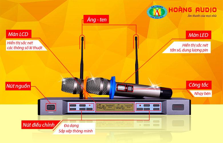     Micro HAS VP18 chất lượng tuyệt hảo, tính năng đa dạng.