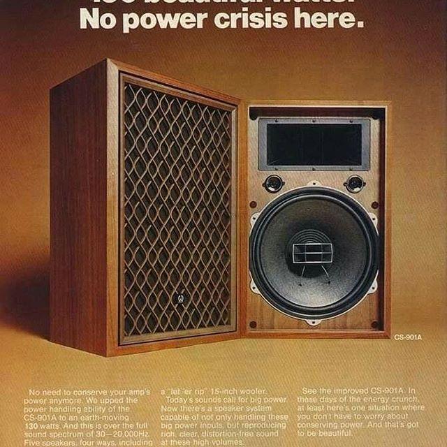   Hình ảnh loa nghe nhạc cổ Pioneer CS 901A.  