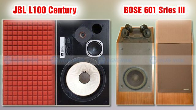 Đánh giá loa Bose 601 series III với JBL L100 Century